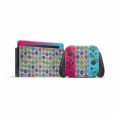 Nintendo Switch Skin Splatoon 2 Inkling Squids Joycon Dock Sticker Console Skin