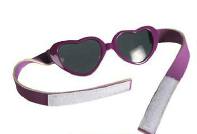 Sunglasses For Babies In Purple Love Heart Shape With Hook & Loop Tape Fastener