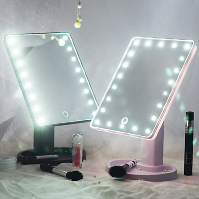 360° Cosmetic 22 LED Touch Screen Makeup Mirror Tabletop Vanity Light Up Mirror