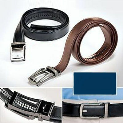 2017 New Comfort Click Belt Leather With Steel Brown And Black For Men PP