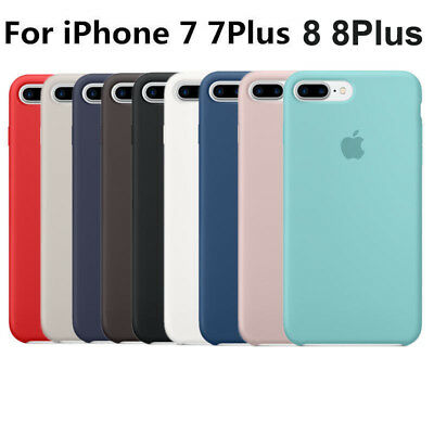 100% Original Silicone Case Cover for iPhone 7/7 Plus iphone 8 Plus iphone X