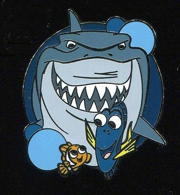 Disney Park Attractions Mystery Finding Nemo Bruce Disney Pin 115788