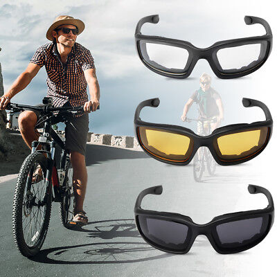 3-Pair Choppers Motorcycle Bike Padded Foam Wind Resistant Riding Glasses MA1267