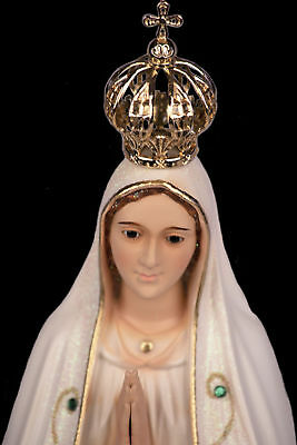 "Our Lady of Fatima Statue Religious Figurine Virgin Mary Classic Paint - 18"" NEW"