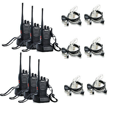 6x Walkie Talkie UHF400-470MHz 16CH Retevis H777 Two Way Radio+Covert Earpieces