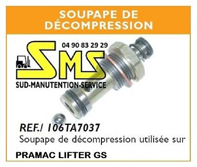 Clapet Soupape De Decompression Bille Transpalette Manuel Pramac Lifter Gs