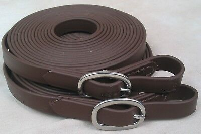 Beta Single Horse Driving Lines 1.9cm Wide, 5.2m Brown. Big Black Horse