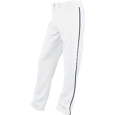 (Small, White/Royal) - Easton Boys' Rival Piped Pant. Delivery is Free