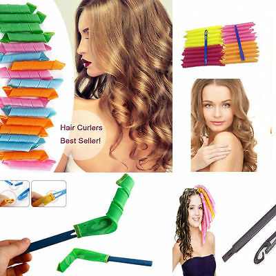 18pcs Mix DIY Hair Rollers Curlers Large Magic Circle Twist Spiral Styling Tool