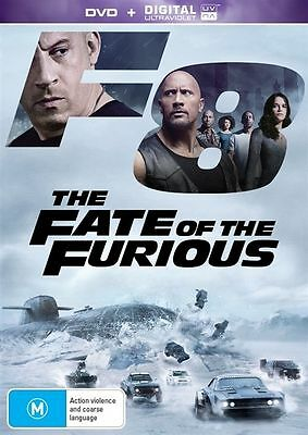 The Fate Of The Furious (DVD, 2017) Fast And Furious 8 Brand New Sealed R4