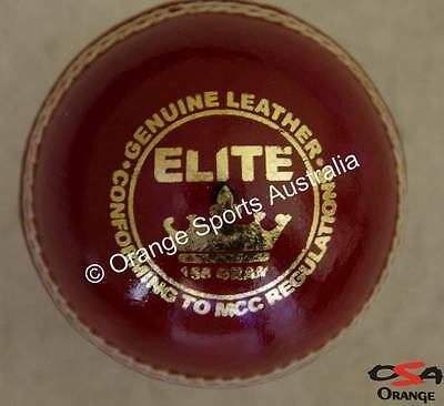 12 x ELITE quality RED bat friendly Cricket Ball  by OSA + AU STOCK (156 gms)
