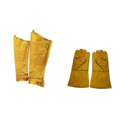 Durable Protective Welding Sleeves Cuffs Welders Gear and Gloves Orange