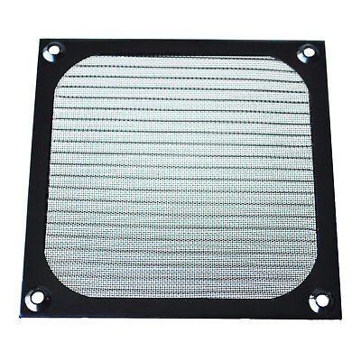 12cm x 12cm PC Cooler Fan Aluminum Dustproof Meshy Filter Black K8I6