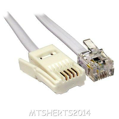 Lloytron 3M Telephone Cable 4 Wire BT Plug to RJ11 Crossover Cable A467 CA64