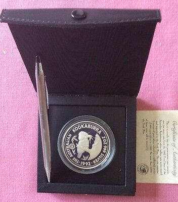 1992 2OZ SILVER Proof KOOKABURRA ADELAIDE POUND PRIVY  RARELY SEEN, 500 Mintage