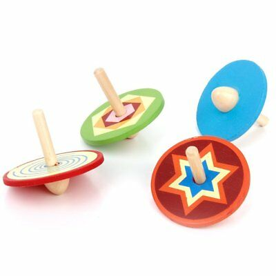 4pcs Traditional Toy Wooden Small tops for Children