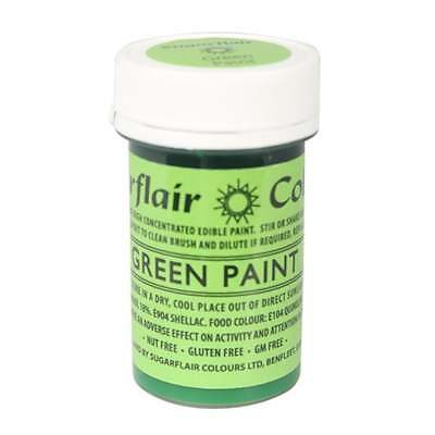 Sugarflair Green - Edible Matt Paint 20g