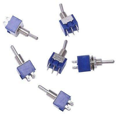 6 pieces On-off-on 3-way mini Toggle switch 6 pin 6A 125VAC