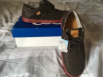 Chaussures Homme TBS Sneakers Hudson En Cuir Lisse Marron - Taille 42