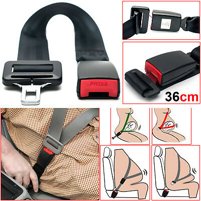 Universal Car Seat Belt Extender Adjustable 36cm Extension Safety Buckle Clip