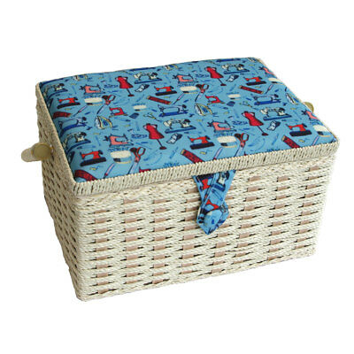 Sewing Online FM-006 | Small Sewing Notions Sewing Basket | 26 x 19 x 15cm