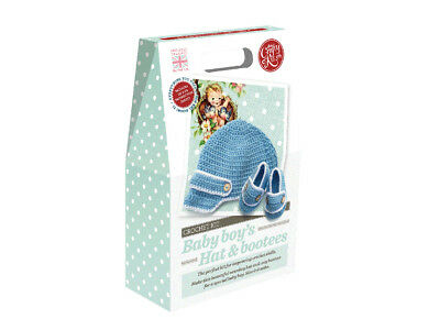 The Crafty Kit Company | Baby Boy's Hat & Bootees Crochet Kit | CKC-CK-072