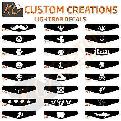 Playstation 4 Controller Light Bar Decal Sticker Ps4 Lightbars Lots of designs