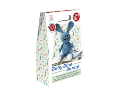 The Crafty Kit Company | Baby Blue Bunny Crochet Kit | With Blanket | CKC-CK-074