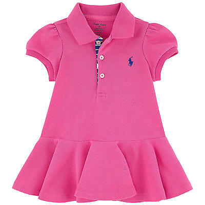 RALPH LAUREN baby girl pink Polo DRESS SET * 3/6M 9/12M flared skirt BNWT
