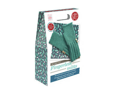 The Crafty Kit Company | Fingerless Mitts Crochet Kit | One Size | CKC-CK-076