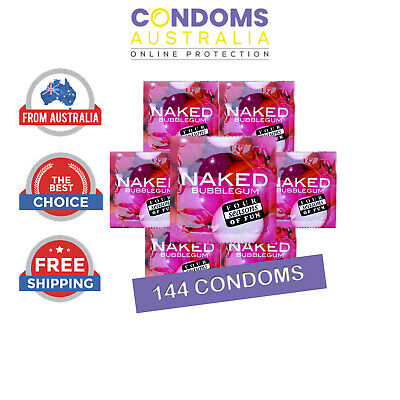 Four Seasons Naked Bubblegum Condoms (144) FREE SHIPPING