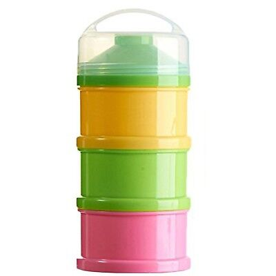 Formula Milk Powder Dispenser and Snack Container (BPA Free) (Pink Yellow Gre...