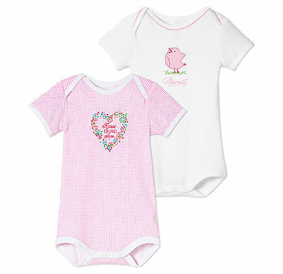 SCHIESSER Baby bodysuit Heart+Sparrow Double pack Size 62-104 Bodies