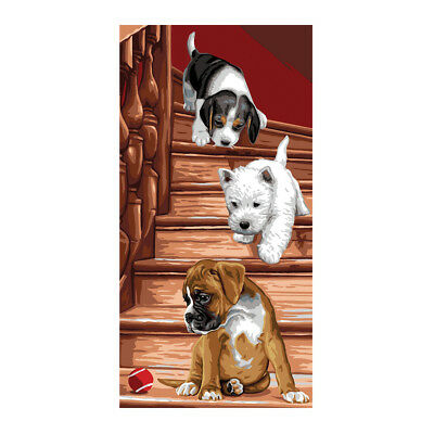 Royal Paris Tapestry Printed Canvas Puppy Boxer Westie   98801380006