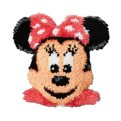 VERVACO|Latch Hook Kit: Shaped Cushion: Minnie Mouse|PN-0014641
