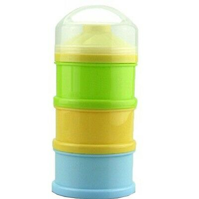 Formula Milk Powder Dispenser and Snack Container (BPA Free) (Yellow Green Bl...