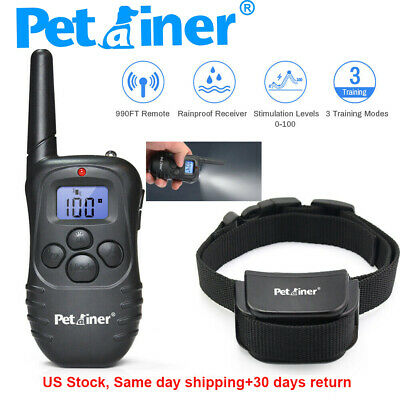 Petrainer Dog Shock Training Collar with LCD Remote Rechargeable Shock Collar