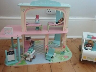 Elc Asda Type Wooden Dolls House Furniture Bed And