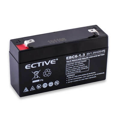 ECTIVE 6V 1,3Ah Blei Akku AGM GEL USV Batterie LC-R061R3P Deep Cycle