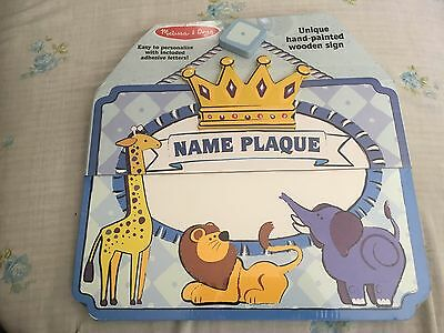 Zoo Animal Crown Hanging Name Plaque for Door/Wall (From Melissa and Doug)