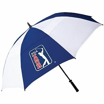 PGA Tour 62 Inch Windproof Umbrella with Fiberglass Shaft and Easy Opening an...