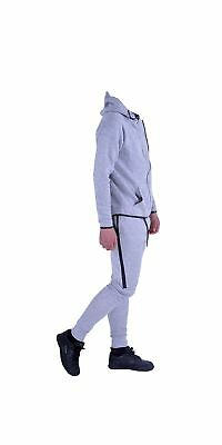 Kids Sports Military Camouflage Hododied Tracksuit 2 piece Contrast TS003 GREY