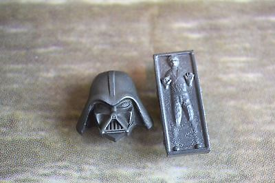 Rare Star Wars Han Solo In Carbonite And Darth Vader Metal Jibbitz Croc charms