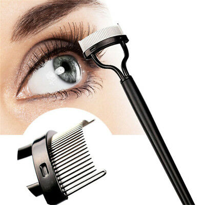Eyelash Comb Lash Separator Mascara Lift Curl Metal Brush Beauty Makeup Tool