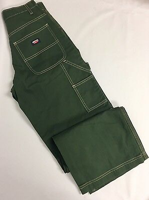 Vtg Jordache Carpenter Skater Pants Streetwear Wide Leg Green Sz 5/6