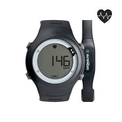 Stopwatch Heart Rate Monitor Beats Belt Cardio Fitness Swim 5ATM  Running Watch