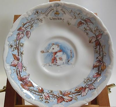 "Brambly Hedge Saucer 5.5"" Winter Jill Barklem Royal Doulton EUC!"
