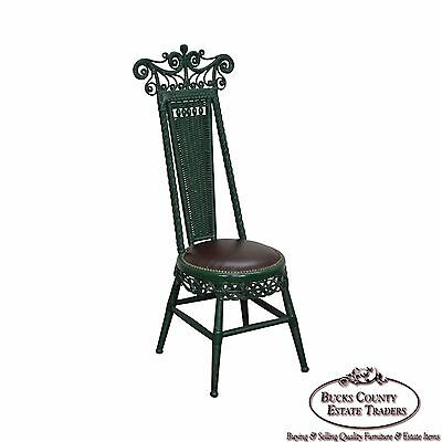 Antique Victorian Wicker High Back Side Chair