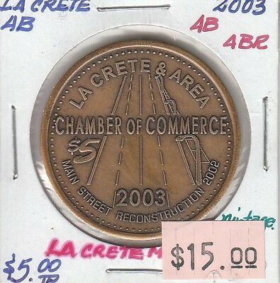 La Crete Alberta Canada - Trade Dollar - 2003 Antiqued Brass
