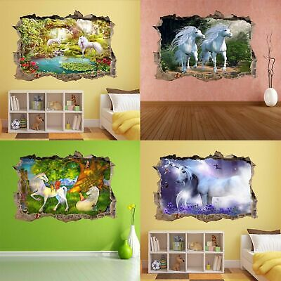 Unicorn Fairytale Magical Forest Fairyland Wall Sticker Mural Poster Wallpaper